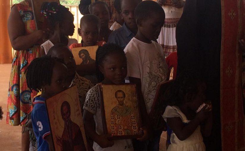 Ο Πατέρας Χρυσόστομος Γουαντζάλα σήμερα από την Θεία Λειτουργία…
