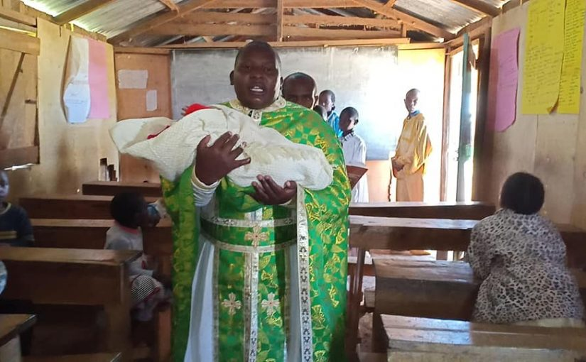 Ο σαραντισμός της μικρής Ξένιας στο Ορφανοτροφείο Αγία Ειρήνη της Κένυας
